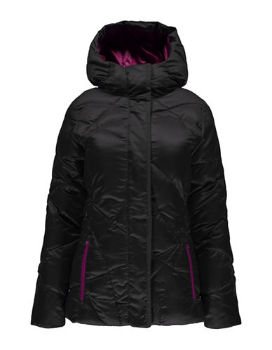 Spyder Geared Hoody Quilted Jacket-BLACK-Large 88799732_BLACK_Large