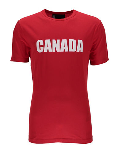 Spyder Canada T-Shirt-RED-Large 89064358_RED_Large
