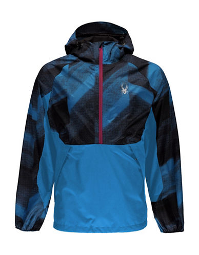 Spyder Contrast Pullover Jacket-BLUE-Small 89064380_BLUE_Small