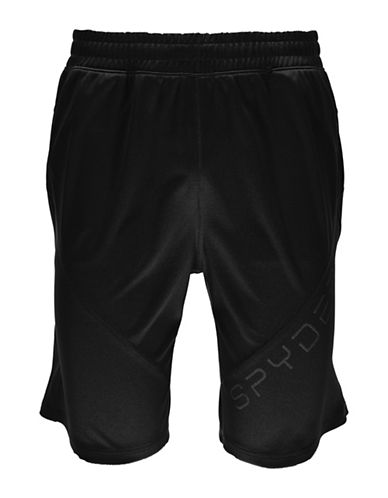 Spyder Davos Printed Shorts-BLACK-Small