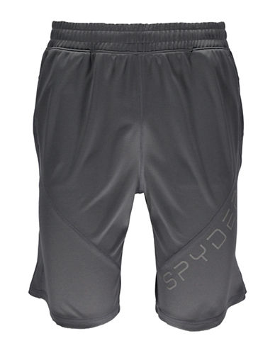 Spyder Davos Drawcord Shorts-GREY-Large