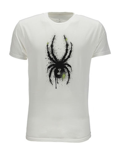 Spyder Limitless Graphic Printed Tee-WHITE-Large