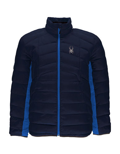 Spyder Geard Full Zip Bomber-BLUE-Medium