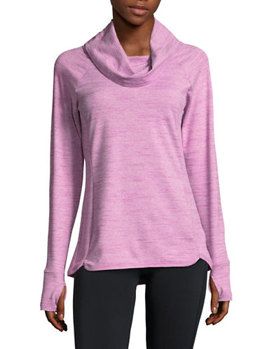 Spyder Solitude Cowlneck Top-PURPLE-Small