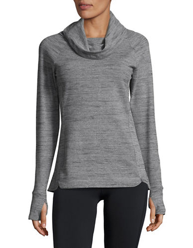 Spyder Solitude Cowlneck Top-GREY-Large