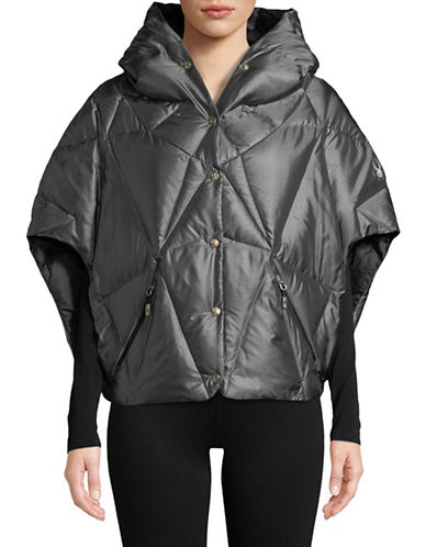 Spyder Solitude Quilted Poncho-BLACK-Medium