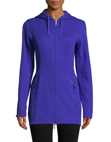Spyder Endure Full-Zip Longline Hoodie-BLUE-Medium
