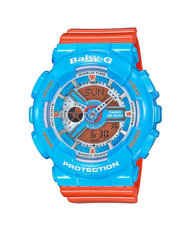 Casio Vibrant Colours Baby-G Watch-BLUE/ORANGE-One Size