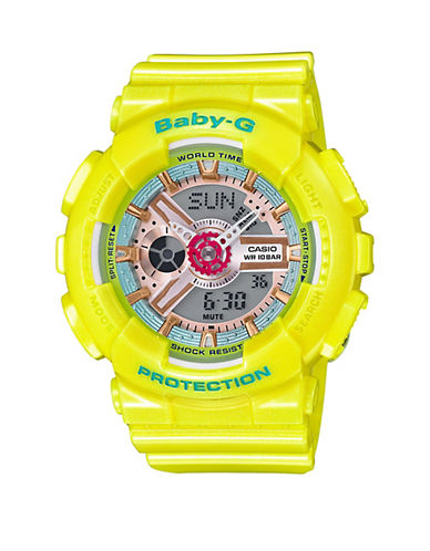 Casio Neo Pastel Coloured Baby G Watch-YELLOW-One Size