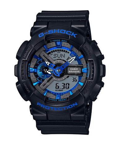 Casio Black and Blue G Shock Watch-BLUE-One Size