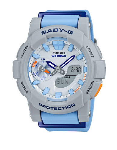 Casio Ana-Digi Runner BABY G Resin Watch-BLUE-One Size