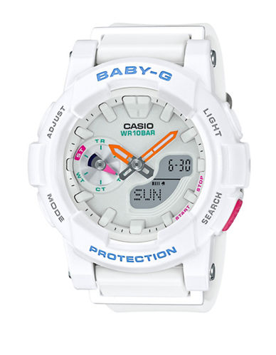 Casio Ana-Digi Runner BABY G Resin Watch-WHITE-One Size