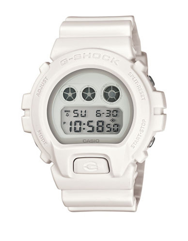 Casio White Out Series Digital Watch-WHITE-One Size