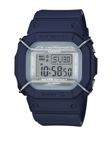 Casio Digital Urban Military BABY G Resin Watch-BLUE-One Size