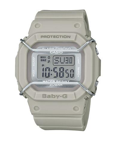 Casio Digital Urban Military BABY G Tan Resin Strap Watch-GREY-One Size