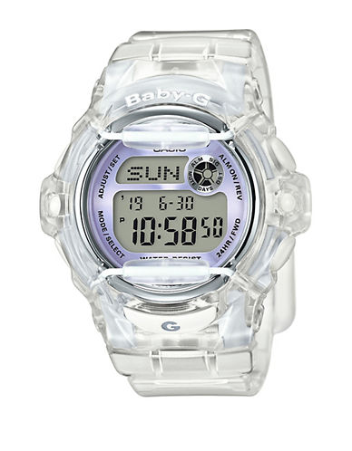 Casio Digital Retro Jelly Resin Strap Watch-WHITE-One Size