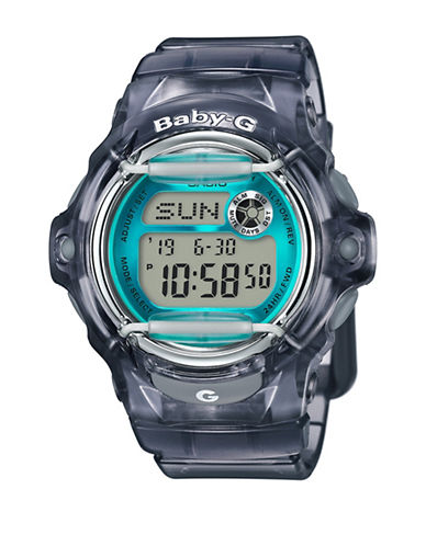 Casio Digital Retro Jelly Resin Strap Watch-GREY-One Size