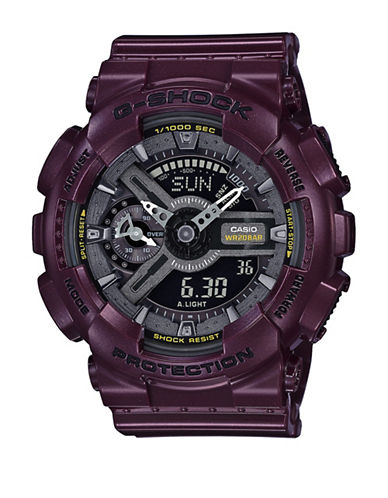 Casio Digital Dark Metallics S Series Digital Watch-PURPLE-One Size