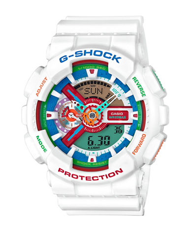 Casio Analog Crazy Colours Resin G Shock Watch-WHITE-One Size
