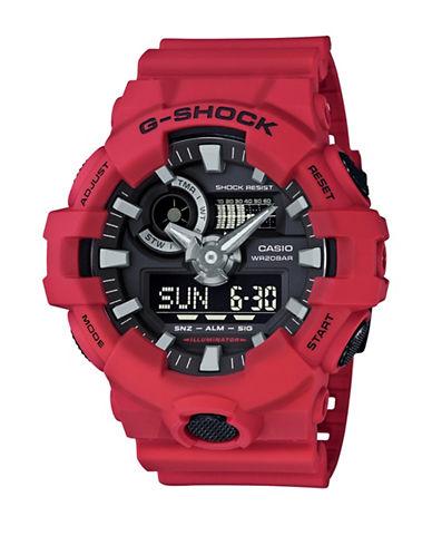 Casio GA700 G Shock Analog Resin Strap Watch-RED-One Size