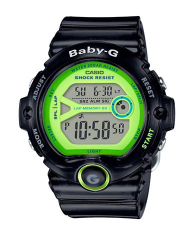 Casio Digital Baby G Runner Resin Strap Watch-BLACK-One Size