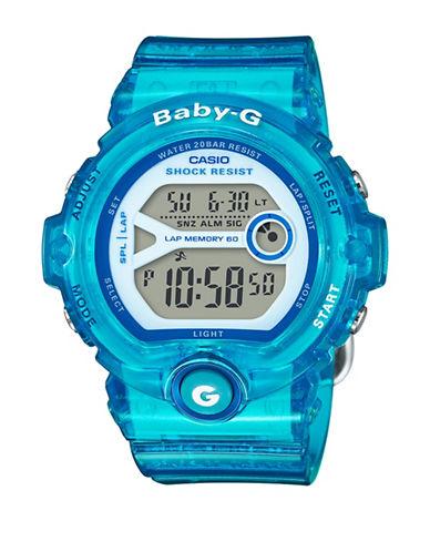Casio Digital Baby G Runner Resin Strap Watch-BLUE-One Size