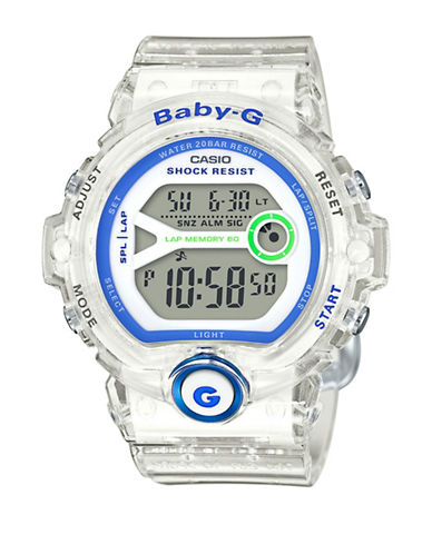 Casio Digital Baby G Runner Resin Strap Watch-WHITE-One Size
