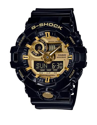 Casio Analog G Shock Resin Strap Watch-BLACK-One Size
