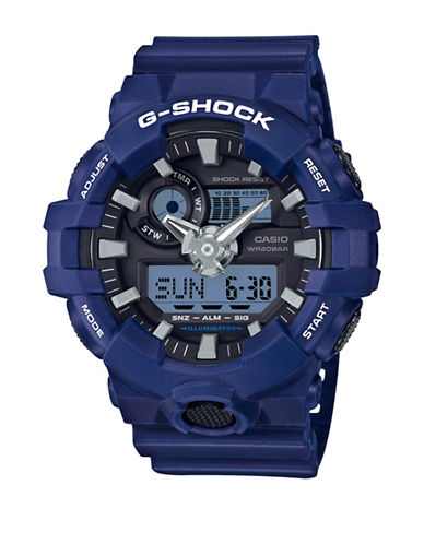 Casio G Shock Analog Resin Watch-BLUE-One Size