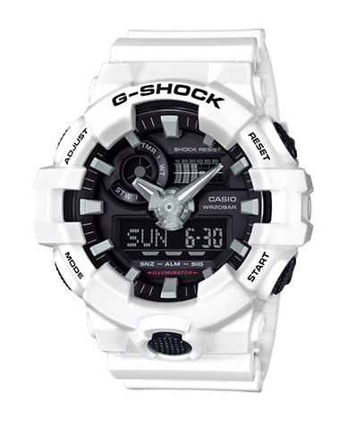 Casio G Shock Analog Resin Watch-WHITE-One Size