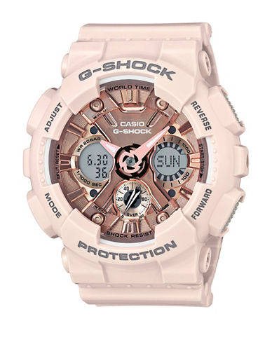 Casio Digital Chronograph S Series Resin Strap Watch-PINK-One Size