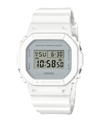 Casio DW5600 Digital Classic Case G-Shock Watch-WHITE-One Size