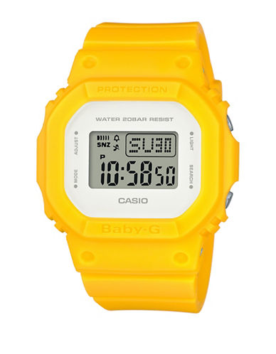 Casio BGD500 Digital Matte Baby G Watch-YELLOW-One Size