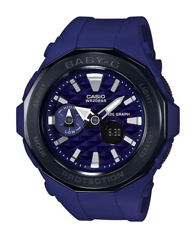 Casio Digital Analog Beach Glamping Baby G Watch-BLUE-One Size