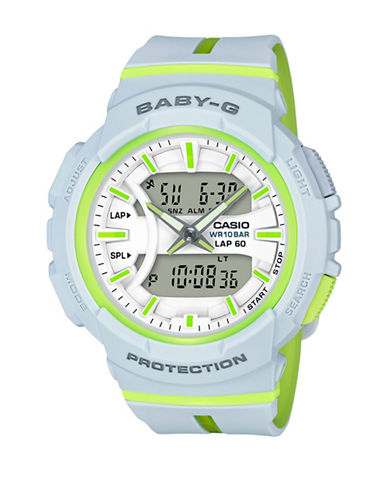 Casio Digital Analog Two-Tone Baby G Watch-WHITE-One Size