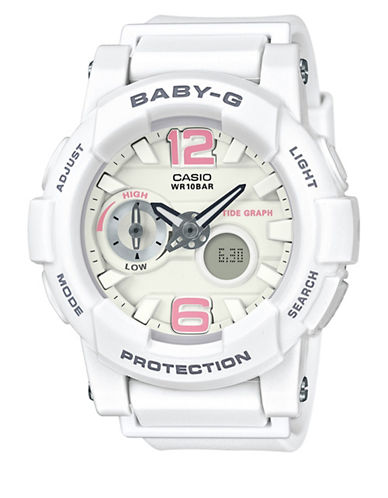 Casio Analog Digital Beach Colour Baby G Watch-WHITE-One Size