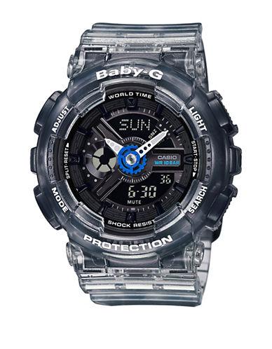 Casio BA-110 Series Digital Analog Semi Transparent Baby G Watch-BLACK-One Size