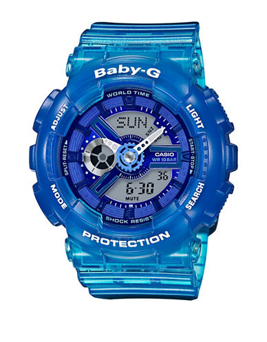 Casio Digital Analog Semi Transparent Baby G Watch-BLUE-One Size