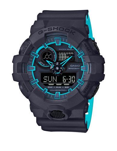 Casio Ana-Digi G-Shock Layered Blue Resin Strap Watch-BLACK-One Size