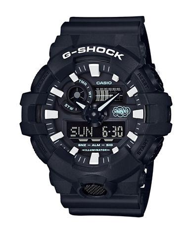 Casio Ana-Digi G-Shock 35th Anniversary Edition Eric Haze Resin Strap Watch-BLACK-One Size