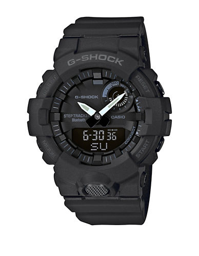 Casio Mens Black Multi-Function G Shock Step-Tracker GBA800 Watch-BLACK-One Size 90117513_BLACK_One Size