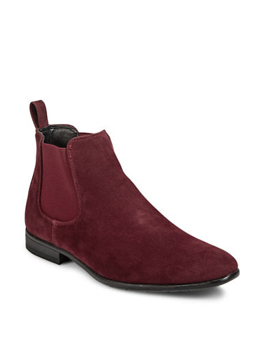 1670 Almond Toe Chelsea Boots-BURGUNDY-7.5