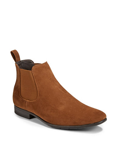 1670 Almond Toe Chelsea Boots-BROWN-9.5
