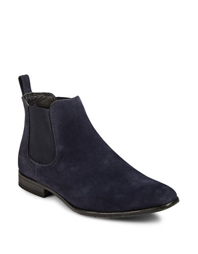 1670 Almond Toe Chelsea Boots-NAVY-9