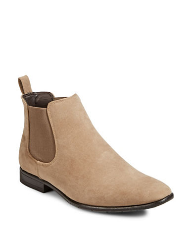 1670 Almond Toe Chelsea Boots-TAUPE-12