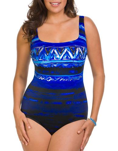 Longitude X-Back One-Piece Swimsuit-BLUE-8
