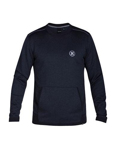 Hurley Drifit Disperse Fleece Crew Neck Sweater-BLACK-Small 88671369_BLACK_Small