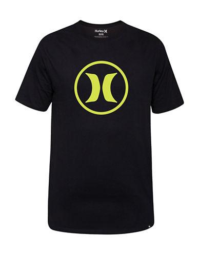 Hurley Short Sleeve Logo T-Shirt-BLACK-Medium 88671396_BLACK_Medium