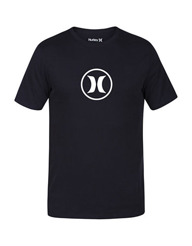 Hurley Circle Icon Drifit Premium Tee-BLACK-X-Large