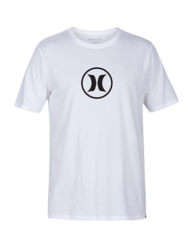 Hurley Circle Icon Drifit Premium Tee-WHITE-X-Large